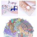12 Sheets Nail Vinyls Laser Hollow Stencil Stickers Transfer Guide Template Heart Star Fish Manicure Nail Art Decoration