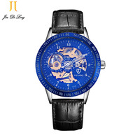 TEVISEบุรุษนาฬิกาหรูนาฬิกาโครงกระดูกอัตโนมัติตนเองลมวิศวกรรมธุรกิจS Teampunkนาฬิกาข้อมือRelógio Masculino