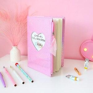 Image 4 - Neue 2019 Nette Cartoon PU Leder Notebook Laser Herz Tagebuch Persönliche Tagebuch Woche Planer Organizer Hinweis buch Schule Schreibwaren
