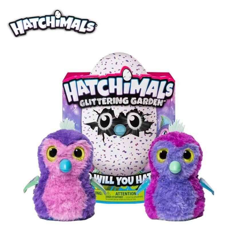 Hatchimals oeufs Interactive Shimmering Traînée Jouet Hatcher Magique Oeuf À Couver Smart Électronique Puzzle Enfant Animal Jouet cadeau 1 pcs