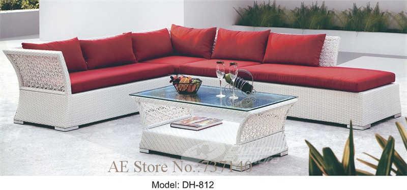 € 444.57  Meubles de jardin salon de jardin blanc canapé de jardin en rotin  meubles en osier canapé en coupe meubles agent d\'achat-in Jardin Canapés ...