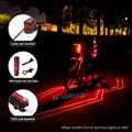 Лазерный велосипедный задний фонарь Leadbike супер яркий USB Аккумулятор Перезаряжаемый водонепроницаемый задний фонарь для велосипеда ночные ...