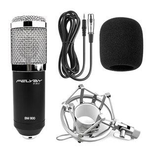 Image 4 - FELYBY BM 800 mikrofon kondensator mit soundkarte und webcam für computer studio aufnahme karaoke 800 mic