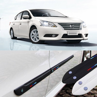 Car styling 4pcs High Quality Brand New Side Doors Rubber Bumper Protector Guard Scratch Sticker Trim For Nissan Vehicle