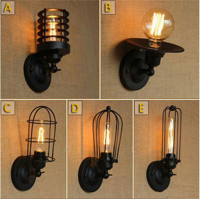 Fashion Industrial Vintage Wall Lamp Industry Simple European Style Dining  Room Bedroom Corridor Lights Wall Sconces
