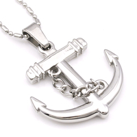 Men S Anchor In Silver Tone Stainless Steel Charm Man Pendant Necklace Rock For Boys Gift