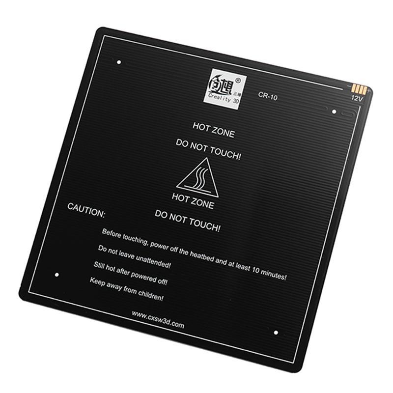 Lit chauffant de plaque de construction en aluminium de l'imprimante 3D 310/410 MM de Creality pour le foyer de CR-10 12 V 310*310*3 MM/410*410*3 MM