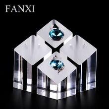 Gratis FANXI envío gratis transparente de acrílico de la joyería apoyos de la demostración para la tienda y contador colgante y pendientes del soporte de exhibición