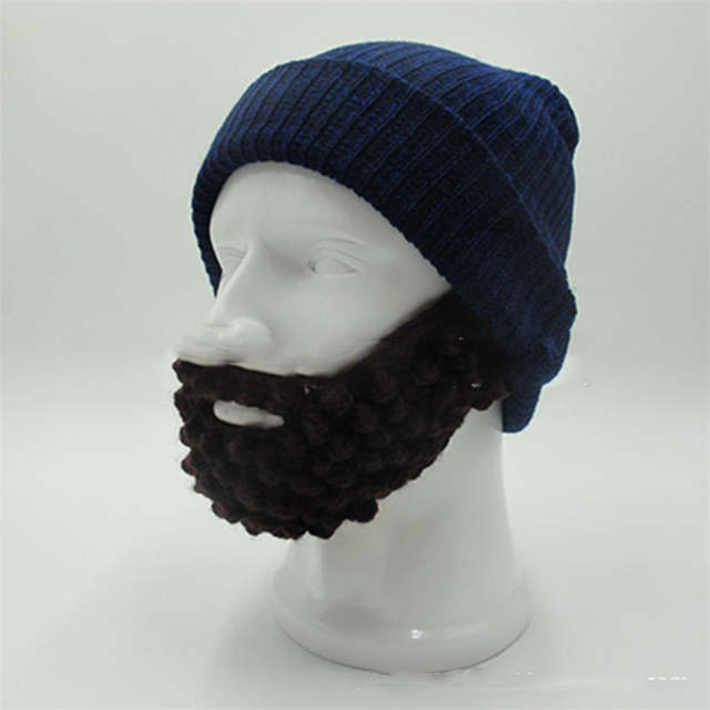 Online Shop 2018 Novelty Knitted Warm Men Caps Soft Beanies Skull Winter  Hats Funny Cool Bearded Hat Touca Gorro Balaclava  Multi colors  a63e793a0