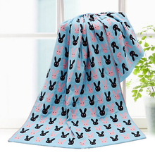 70cm145cm 2017 Baby Bath Towel Infant Towels Baby Accessories 3 Layers Cotton Blanket Free Shipping