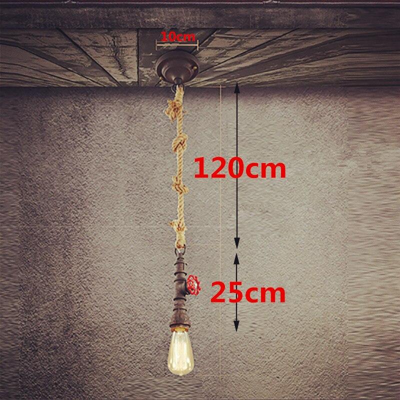 Seil lampe diy loft retro industriellen vintage steampunk ...