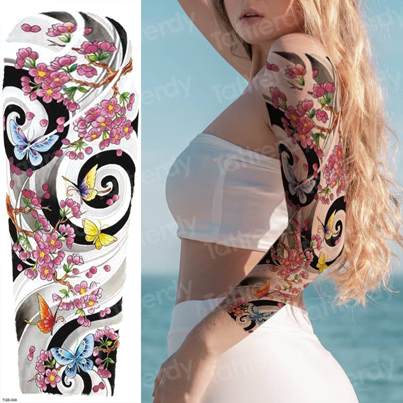 Tattoo Women Tatoo Big Temporary Tattoos For Girls Tatoo Sleeve Woman Tattoos To Cover Scars Sexy Tatto Large Water Transfer New