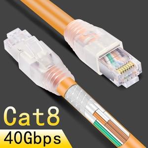 Image 1 - CNCOB rj45 8p8c 40 Gbps Ethernet כבל cat8 בית נתב במהירות גבוהה מגשר רשת אינטרנט חיבור כבל