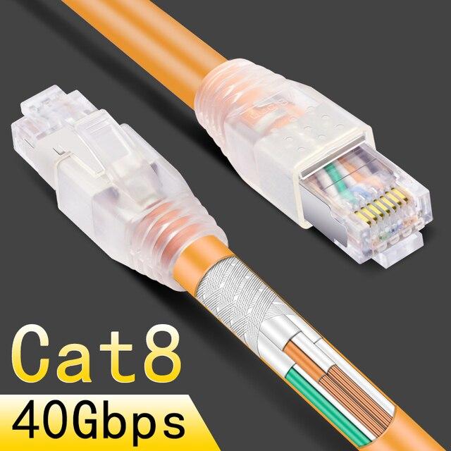 CNCOB rj45 8p8c 40 Gbps Ethernet כבל cat8 בית נתב במהירות גבוהה מגשר רשת אינטרנט חיבור כבל