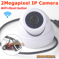 1920x1080 2.0 Megapixel Full HD Wifi Wireless Dome IP Camera Security CCTV Indoor Support Motion Detection With Reset Button