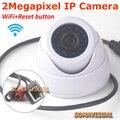 1920x1080 2.0 megapixel full hd wifi sem fio dome ip câmera de segurança cctv interior suporte motion detection com reset botão