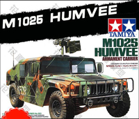 Tobyfancy Tamiya 1/35 U.S Force M1025 Humvee Armament Carrier Military Miniature Ready to Assembly Model Kit