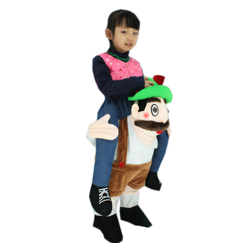 Children Christmas Santa Claus costume Novelty Oktoberfest Costume Mascot Unisex Ride on Beer Guy Costumes Kid Funny Fancy Dress