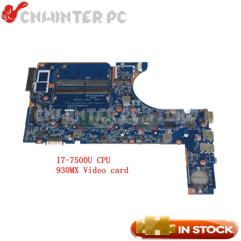 NOKOTION DA0X83MB6H0 Laptop Motherboard For HP 450 G4 MAIN BOARD SR2ZV I7-7500U CPU 930MX Video card