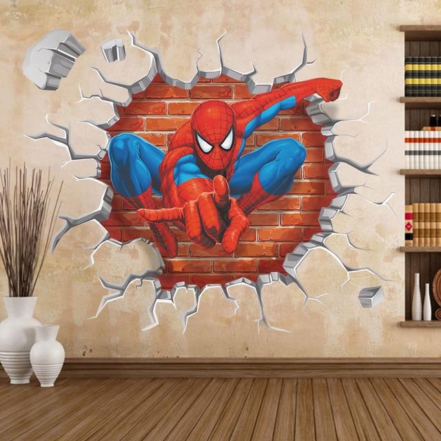 Stickers Kinderkamer Disney.Disney 2018 Film Animatie Sticker Zy Y006 Nieuwe Spider Man Stereo