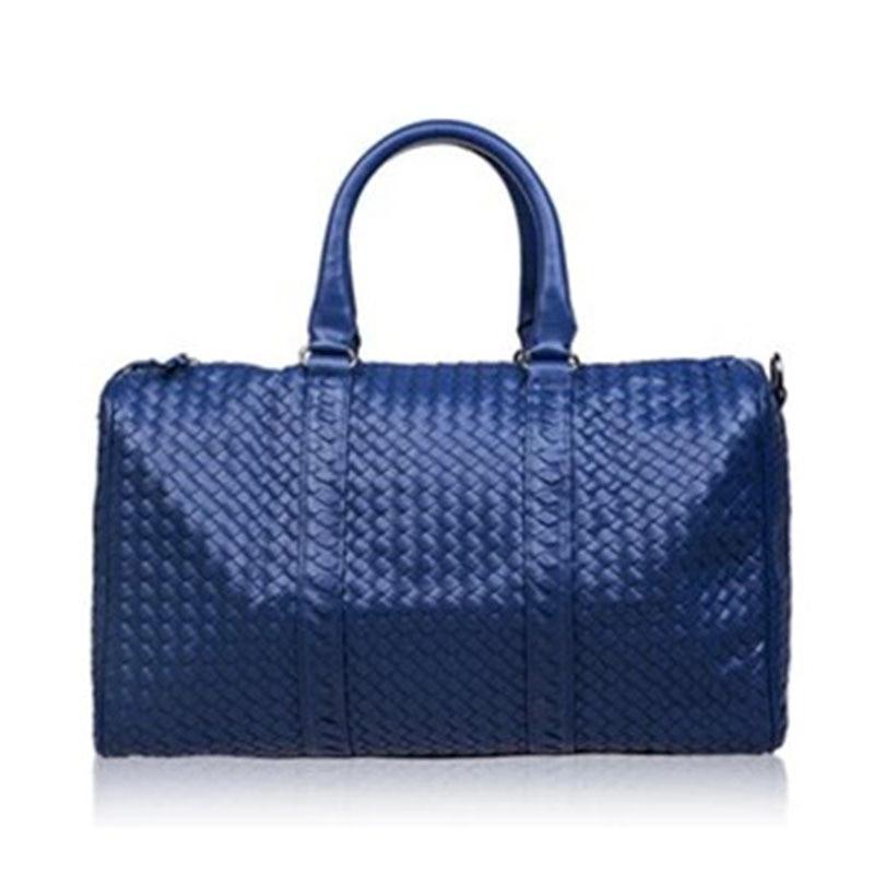 Fashion classic travel bag messenger bag handbag senior PU bag handmade woven men women duffle bags