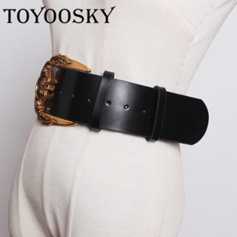 2019Popular Women Fashion Belts For Split Leather Belt Top Quality Carving Buckle Waist for All Match Lady Female Belts TOYOOSKY in Women 39 s Belts from Apparel Accessories