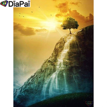 DIAPAI Diamond Painting 5D DIY 100% Full Square/Round Drill Tree waterfall Embroidery Cross Stitch 3D Decor A24216