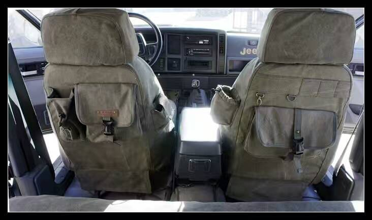 Tampas de assento do carro conjunto almofada personaliza pano de oxford lona denim caça para Citroen QUATRE Picasso elysee Triunfo C2 C4 C5 C4L