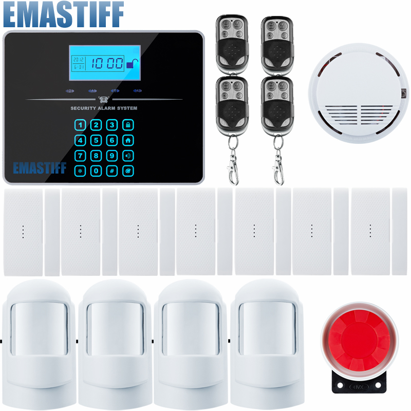 Android IOS Touch Screen Keypad+LCD display keypad Wireless GSM SMS Home/house Security Burglar Voice Smart Alarm System diy touch keypad wireless gsm sms autodial smart home security burglar alarm system smoke sensor voice pir emergency
