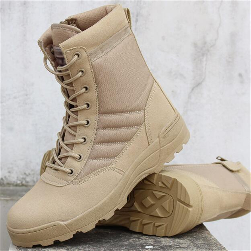 Men Military Combat Boots Outdoor Waterproof Desert Tactical Boots - Men's Shoes