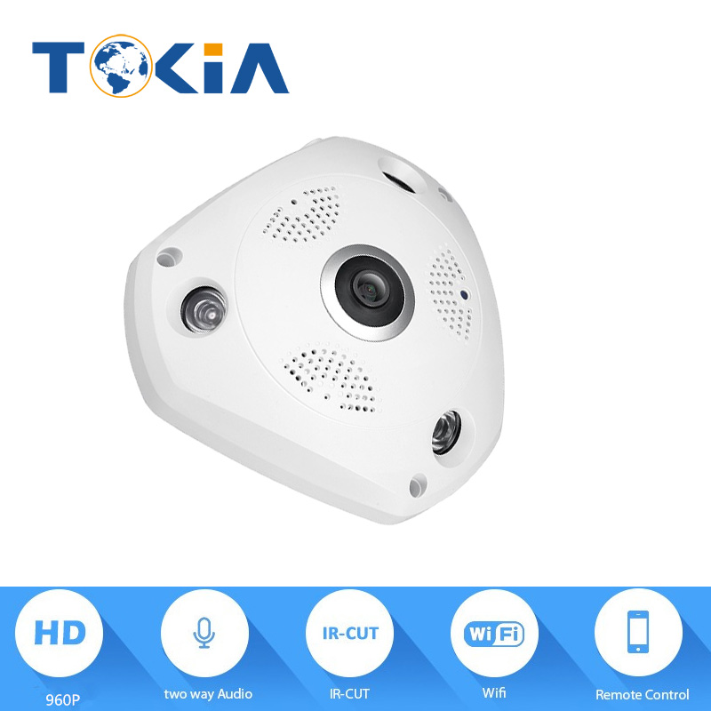 960P wifi camera Panoramic view 360degree Onvif HD 960P IP Camera Wifi Wireless MegaPixel HD CCTV Home Network IP remote camera erasmart hd 960p p2p network wireless 360 panoramic fisheye digital zoom camera white
