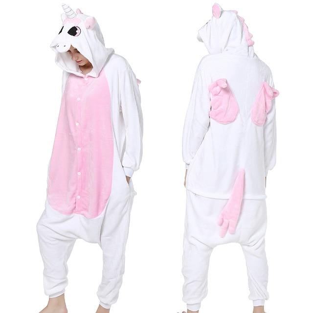 Gratë për burra Kigurumi Anime Pizhama Unicorn Hoodie Pajamas - Kostumet - Foto 4