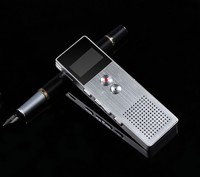 Original Benjie MP3 Player OLED Screen Metal Built in Speaker 8GB Portable Voice Recorder FM Radio Player MP3 with SD Card Slot