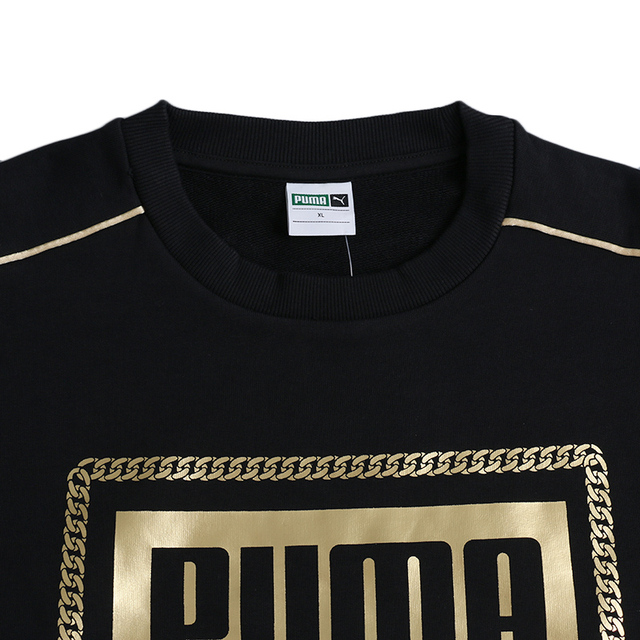 Original New Arrival 2018 PUMA Classics Graphics Box Crew Men's Pullover Jerseys Sportswear 2