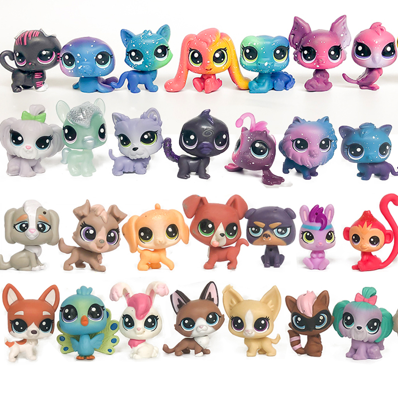 FGHGF LPS Animal Pet Shop Collection Figure Collie Dog Cat Squirrel Rare Loose Cute Kid Toys Figure Gift Y19062501