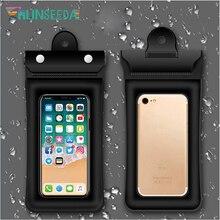 Runseeda Touchscreen Waterproof Mobile Phone Swimming Bag Floating Airbag Surfing Diving Smart phones Packing Swim Accessory