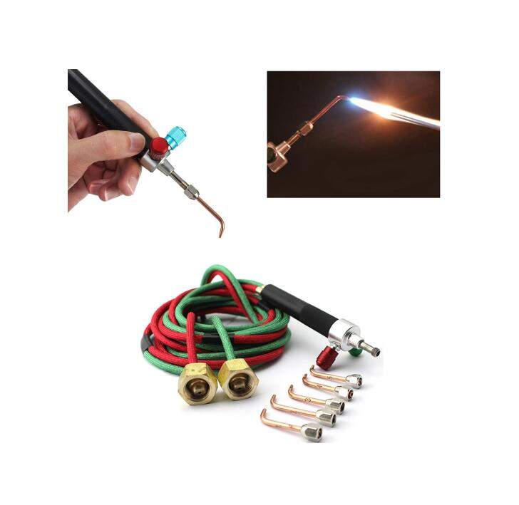 free shipping Oxygen Acetylene silver little Smith torch Soldering Gold Welding Torch goldSmith jewelry cutting melting 5 Tips