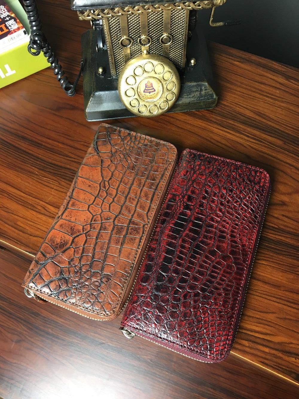 TERSE_Black Friday sale womens handmade long wallet luxury genuine crocodile leather purse formal crocodile clutch bag