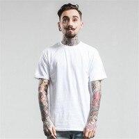 2017SS New Men Basic T Shirt 100 Cotton T Shirt Plain White Breathable Men S O