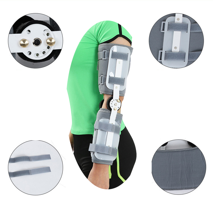 2017 Health Care Adjustable Elbow Joint Fixed Brace Corrective Orthosis Activity Limitation Arm Fracture Protector wristbands long wrist thumb brace support stabilizer brace 3 aluminum splint inside scaphoid fracture