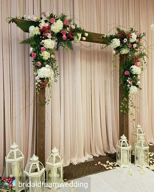 Top Quality White Roses With Green Grass Wedding Flower Wall