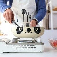 الإبداعية لطيف الباندا نمط غير عصا مقلاة أيا الدخان المنزلية الاستخدام العام لل موقد غاز طباخ