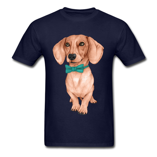 I Love My Dog Pet Animal T Shirts Men Dachshund Wiener Dog Drawing Picture Tshirt For Handsome Man Cute Teckel Cotton Tees Design Shirt Formal Shirt From Wattystore 24 2 Dhgate Com