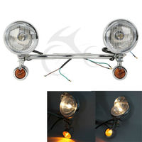 Driving Passing Turn Signals Spot Light Bar For Harley Customs Choppers Cruiser Honda VT 750 1100 VTX 1300 Shadow U 1800