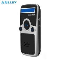 ANLUD Солнечная Bluetooth громкая связь автомобильный комплект FM стерео передатчик много языков ЖК-дисплей питание Громкая связь беспроводной ...