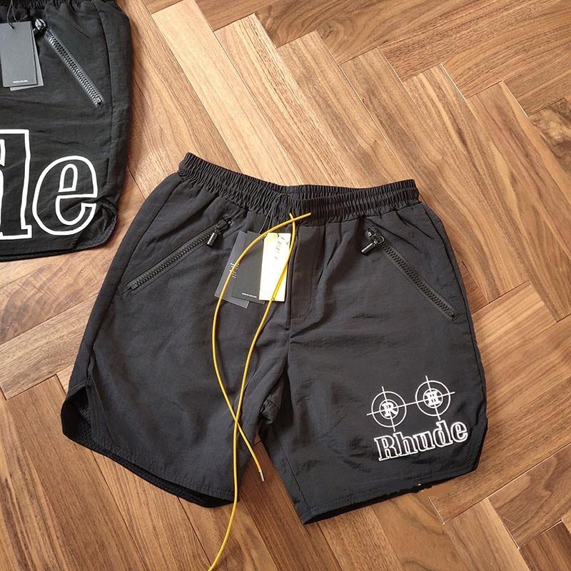 Swimming Trunk Short 19SS RHUDE Summer Mesh Unisex Zipper 3-Options Drawstring New-Version