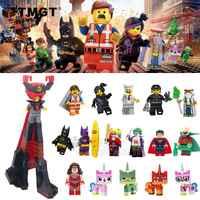 50PCS/LOT Wholesale Movie Lord Business Green Lantern Emmet Wonder Woman Joker Building Blocks Toys Gift For Children