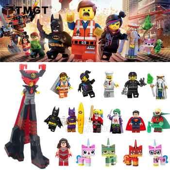 50PCS/LOT Wholesale Movie Lord Business Green Lantern Emmet Wonder Woman Joker Building Blocks Toys Gift For Children - DISCOUNT ITEM  8% OFF Toys & Hobbies
