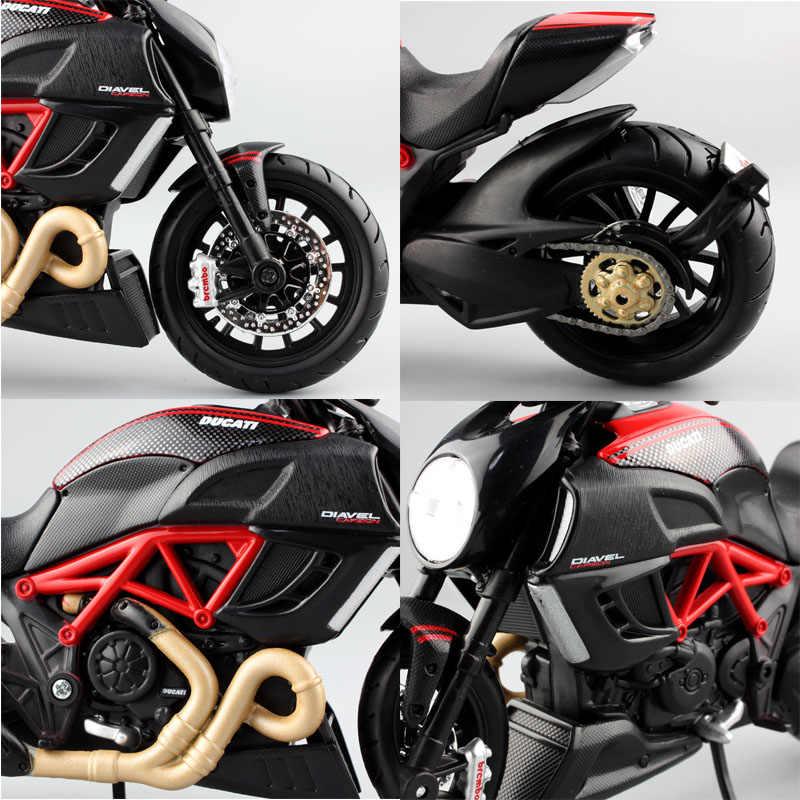 Maisto 1:12 skala anak Diavel ducati superbike Diecast model cruiser sepeda motor balap mobil miniatur logam koleksi mainan anak