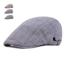 Модные клетчатые береты для мужчин и женщин, Повседневные Дышащие береты, шапки Gorras Planas, Ретро стиль, Boina, плоская кепка s, одноцветная ковбойская Кепка